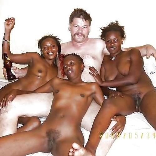 Porn white man black girl