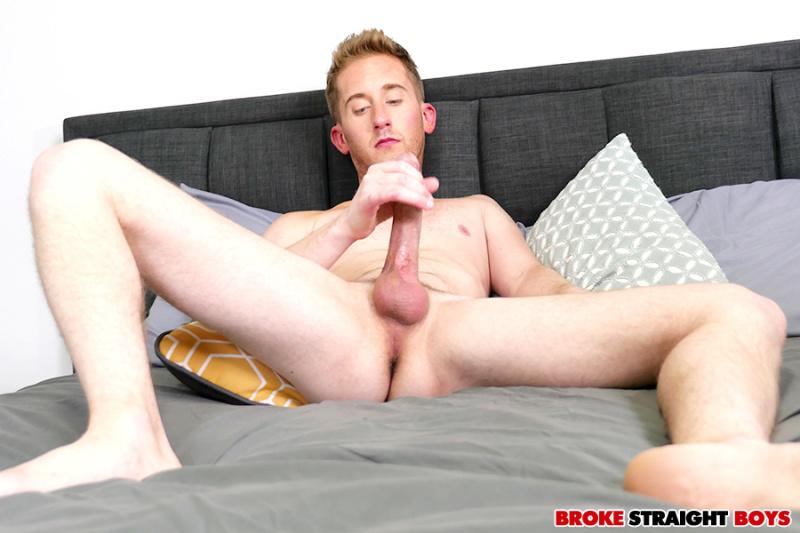 BrokeStraightBoys: Chase Daniels Strokes His Hard Cock