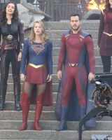 Melissa Benoist -                   ''Supergirl'' Set Vancouver May 2nd 2018.
