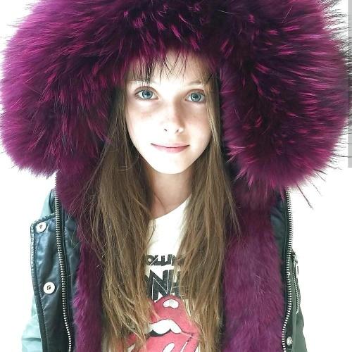 Jean jacket with fur inside