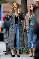 Sofia Vergara on the set of a photoshoot in New York City - 10/26/18