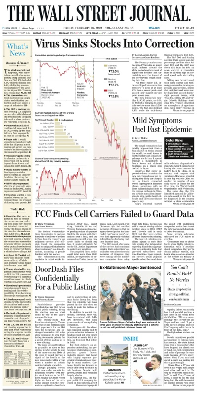 The Wall St Journal 28Feb(2020)