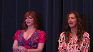 Christina Hendricks Interview With The Moms in New York City - 1/25/19