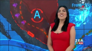 Samantha Robles TIGHT Red Dress Captures 5/18/20