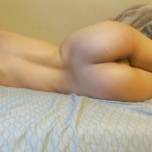 Showing off nude wife