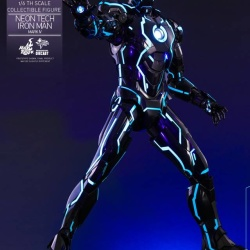 "Iron Man 2 - Mark IV Neon Tech ""Toy Flair Exclusive 2018"" 1/6 (Hot Toys) HirZ60iU_t"