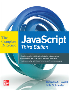 JavaScript - The Complete Reference, 3rd Edition
