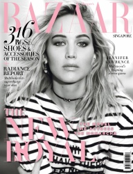 Jennifer Lawrence -            	Harper's Bazaar Magazine (Singapore) April (2018).