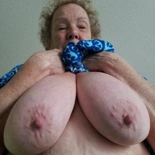 Mature grandma tits