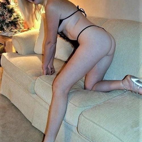Hot blonde black lingerie