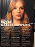 Bryce Dallas Howard - Total Film Magazine May 2018