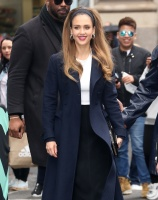 Jessica Alba -          Outside AOL Build New York City May 14th 2019.
