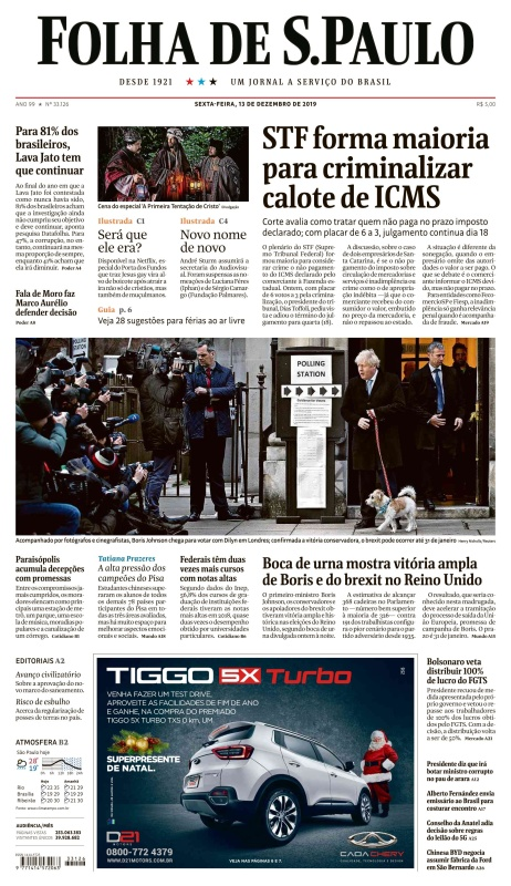 Folha de S 227 o Paulo - 13 12 (2019)