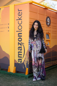 Vanessa Hudgens @ The Amazon Lockers at Coachella April 12, 2019