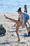 Alessandra Ambrosio showing her beautiful feet in a sexy bikini, celebrity feet, foot fetish pictures at Karina's Foot Blog