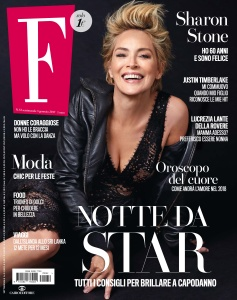 Sharon Stone -                  F Magazine (Italy) January 2017.