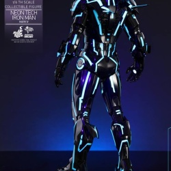 "Iron Man 2 - Mark IV Neon Tech ""Toy Flair Exclusive 2018"" 1/6 (Hot Toys) YJCCH8KO_t"