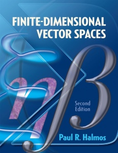 Finite-Dimensional Vector Spaces Second Edition (Dover Books on Mathematics)