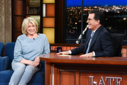 Martha Stewart - The Late Show with Stephen Colbert: March 5th 2018