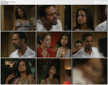 VICTORIA ROWELL *cleavage, braless* YnR  - 8.25.2006