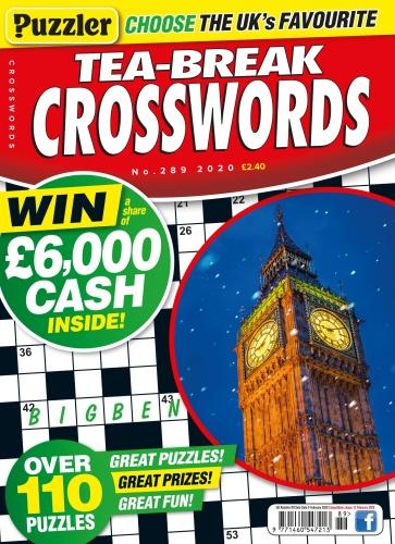 Puzzler Tea-Break Crosswords - Issue 289 - January (2020)