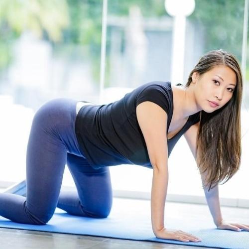 Sexy asian yoga pants