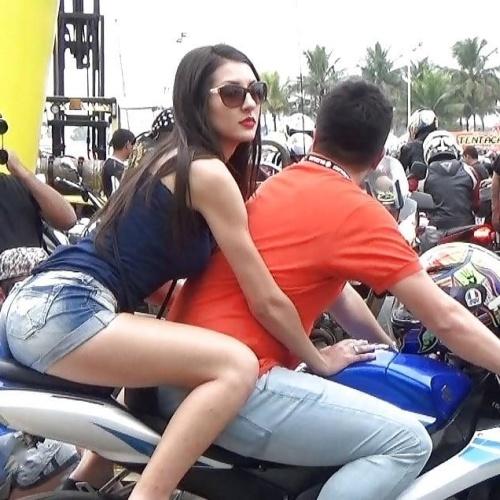 Motorcycle girl naked
