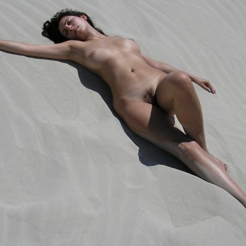 Milf naked at the beach