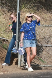 Reese Witherspoon - At her son's soccer game in Santa Monica 10/28/17