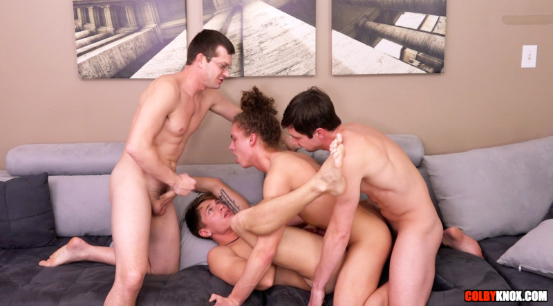 ColbyKnox: Live Four-Way with Troy Accola and Jack Valor -BAREBACK-