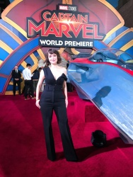 Milana Vayntrub at the Captain Marvel Premiere in Hollywood, CA - 3/4/19