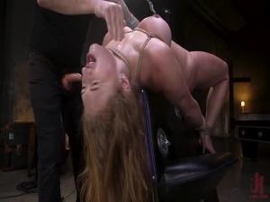 Curvy Goddess Skylar Snow Rough Anal And Rope Bondage Fuck - BDSM, Punishment, Bondage