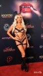 Lindsey Pelas on the red carpet at the Kandy Halloween party, October 20, 2018