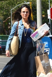 Jordana Brewster - Out shopping in Beverly Hills 5/15/18