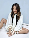 Alicia Vikander showing her beautiful feet in a barefoot photoshooting
