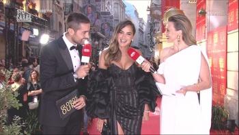 Sara Matos sensual nos Globos Ouro 2018