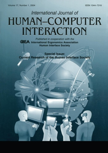 Current Research of the Human Interface Society   A Special Issue of the interna
