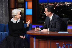Helen Mirren - The Late Show with Stephen Colbert: March 9th 2018