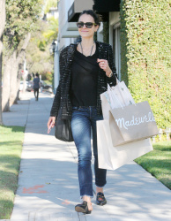 Jordana Brewster - Shopping in Beverly Hills 11/9/17