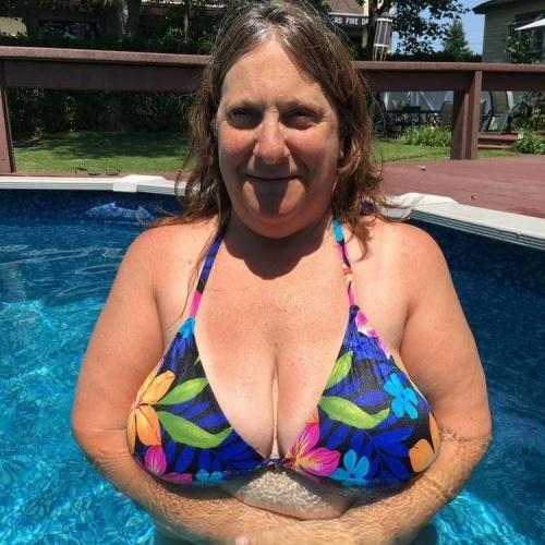 Walmart striped bathing suit