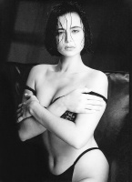Catherine Bell - early 1990s Robert Kim BW Photoshoot x2