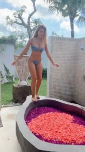 Kara Del Toro in the flower bath 8/2/2020
