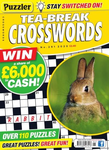 Puzzler Tea-Break Crosswords - Issue 291 - March (2020)