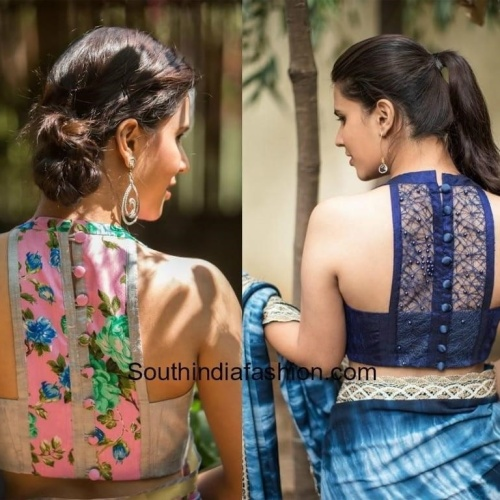 Aunty saree blouse