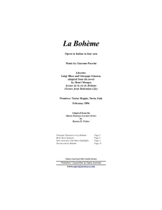 La Boheme (The Opera Journeys Mini Guide Series)