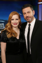Jessica Chastain - Jimmy Kimmel Live: January 3rd 2018