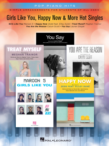 Hal Leonard Girls Like You Happy Now And More Hot Singles Pop Piano Hits RE (2018)