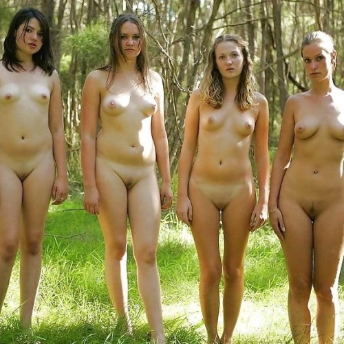 Teen nude public