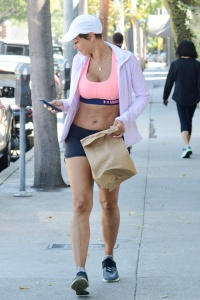 Nicole Murphy - Sports Top & Shorts Out And About in LA (3/27/18)