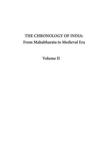 The Chronology of India From Mahabharata to Medieval Era